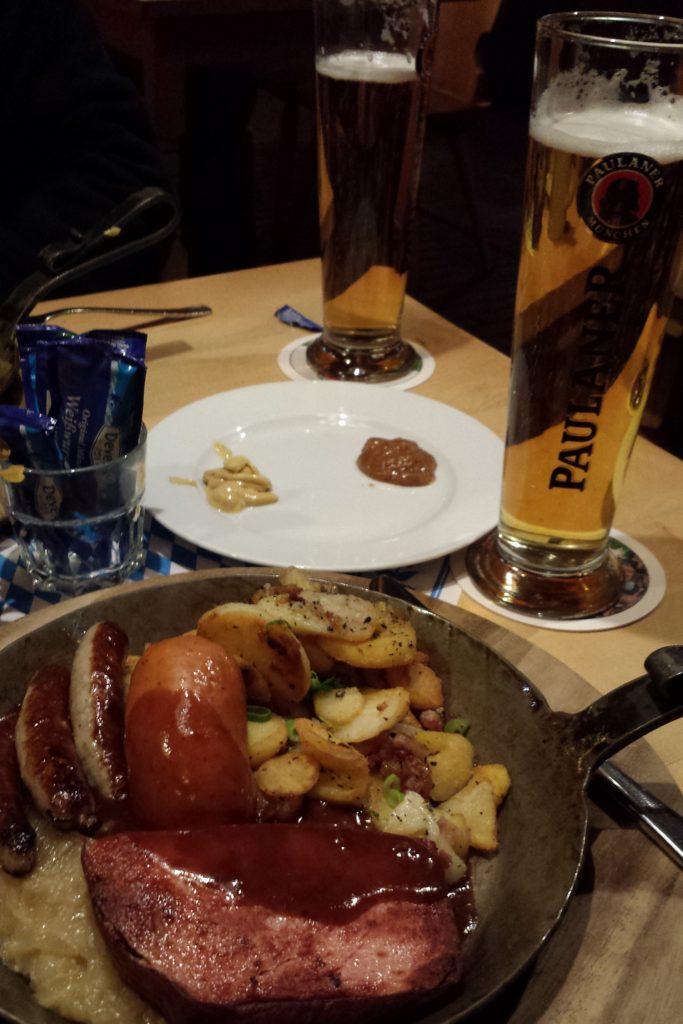 Our dinner at the Bavarian Restaurant.