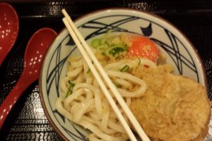 Noodles with raw egg