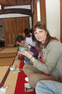 Enjoying my Tea ceremony