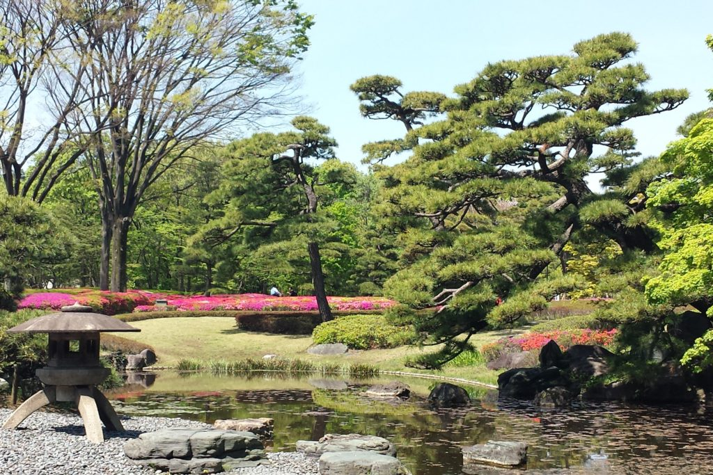 Pond in Ninomaru garden