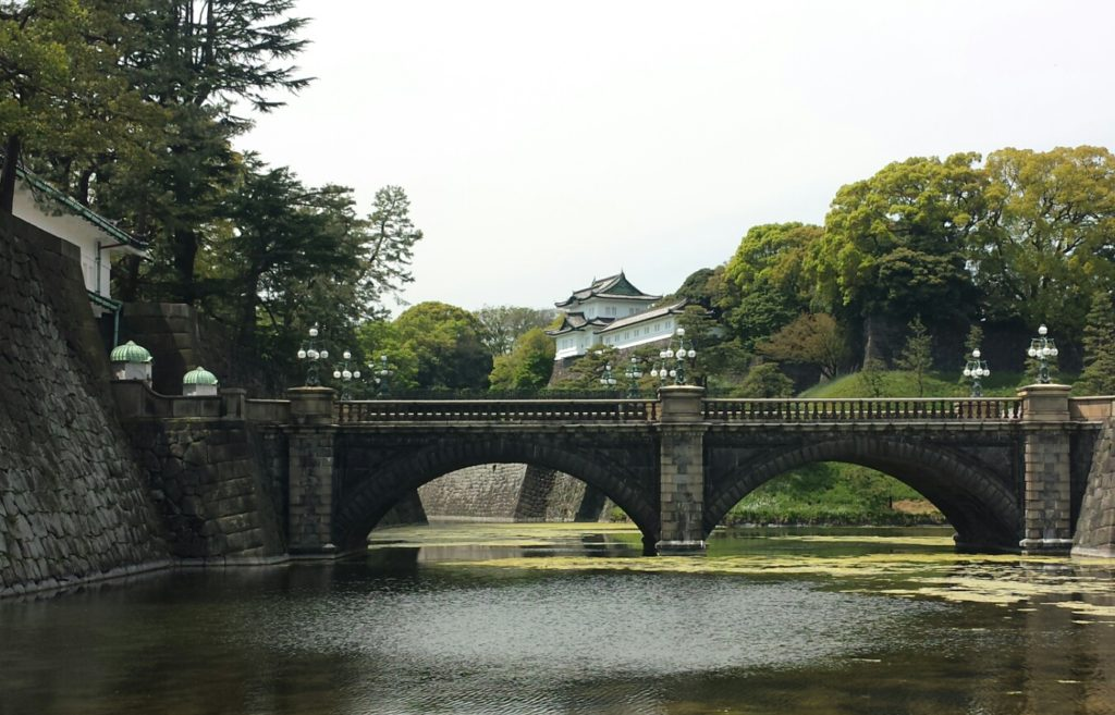 Stone bridge at Nijubashi.