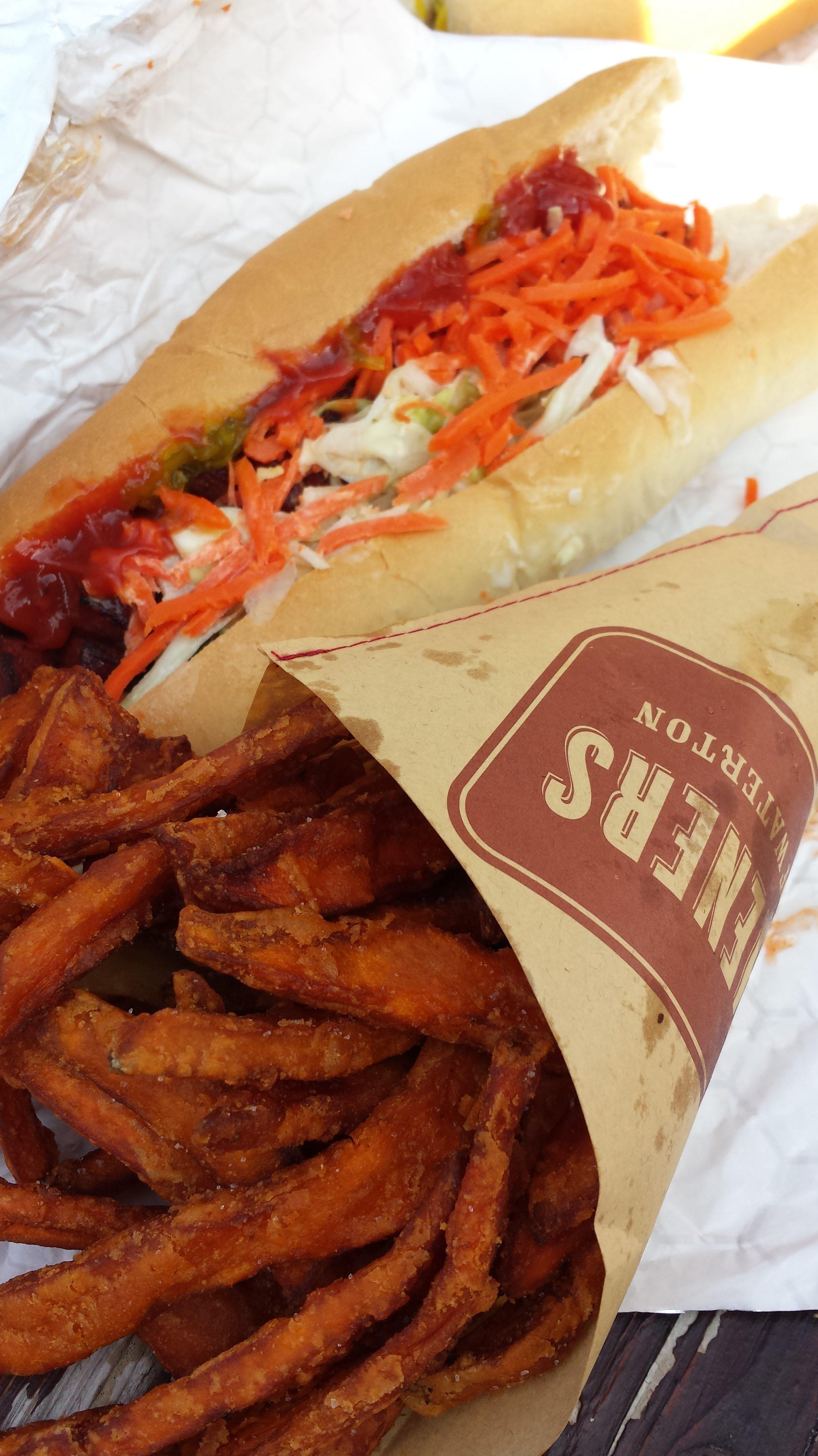 Wiener and fries