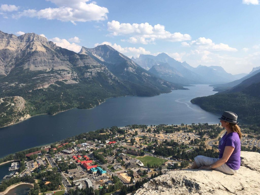 View of Waterton from Bear's Hump