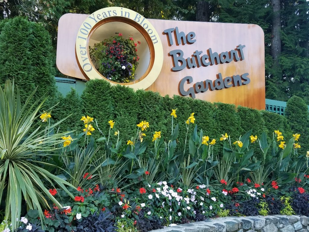 Arrival at Butchart Gardens