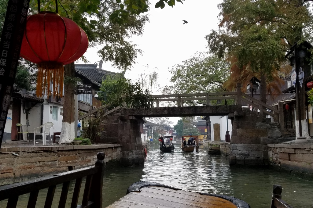 Boating along the canal