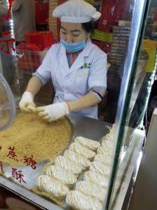 Making Nut flour cookies