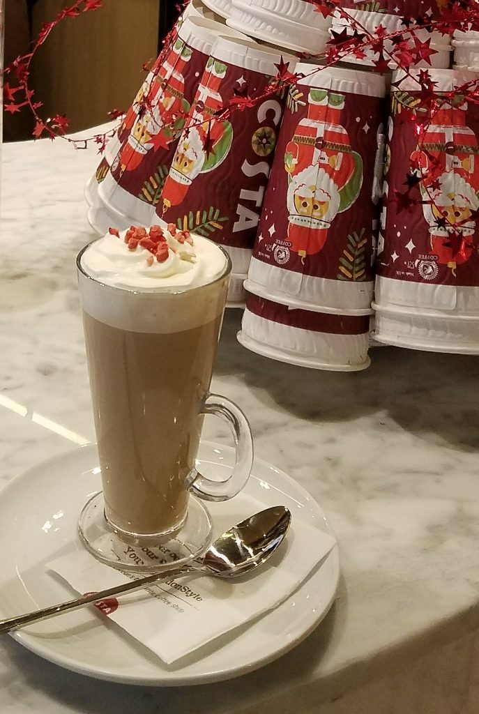 English Trifle Latte at Costa