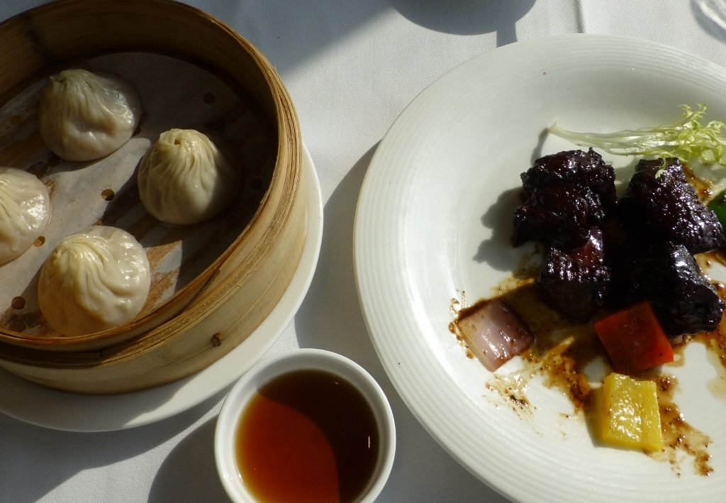 Soup dumplings and Beef in pepper sauce