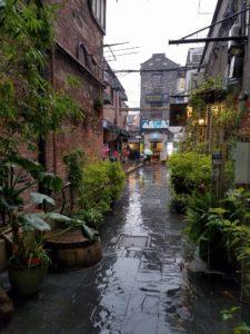 Alleyway in the rain