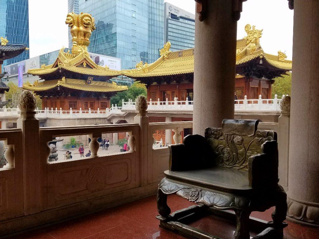 Upper walkway in Temple