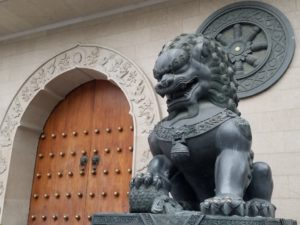 Lion near Temple entrance