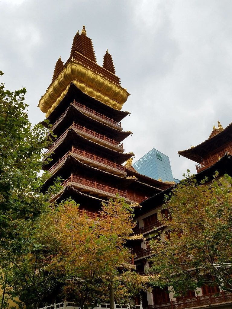View from outside the Jing'an Temple