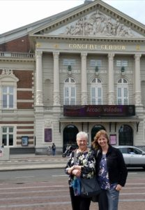 With Carolyn at the Concertgebouw