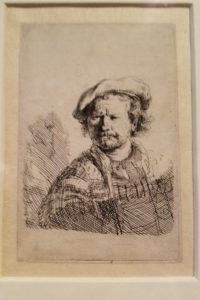 Etching of Rembrandt